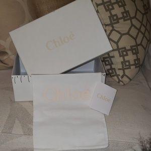 Chloe shoe box, dust bag, card
